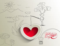 Abstract valentine's day background Stock Photo