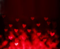 Abstract Valentine's day background with red hearts. Colorful So Royalty Free Stock Image