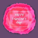 Abstract Valentine`s day card with floral element Stock Photo