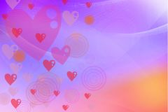 Abstract valentine's day card with   heart design Royalty Free Stock Image