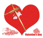 Abstract Valentine's day gift Royalty Free Stock Photos