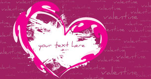 Abstract valentine's day greeting card. Violet background Royalty Free Stock Photo