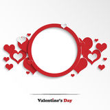 Abstract Valentine's day greeting card Stock Image