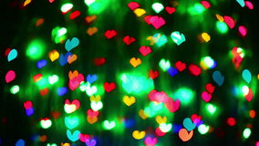 Abstract Valentine's day heart blinking background. Abstract Valentine's day heart shaped blinking bokeh background stock footage