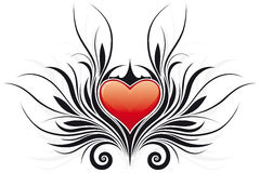 Abstract Valentine's Day Heart tatto Stock Image