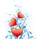Abstract Valentine's Day Hearts Stock Image