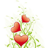 Abstract Valentine's Day Hearts Royalty Free Stock Images