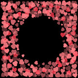 Abstract Valentine`s Day hearts. Frame background for your design. Vector illustration. Love concept. Cute wallpaper. Good idea fo. R Wedding and Valentines day Stock Photography
