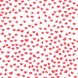 Abstract Valentine's Day hearts. Red hearts. Seamless background for your design Stock Photo