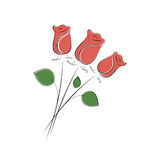 Abstract Valentine`s day roses. For your greeting card design royalty free illustration