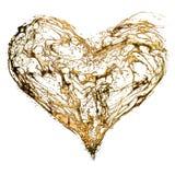 Abstract valentine's golden heart vector illustration