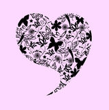 Abstract Valentine's heart. Vector illustration Stock Photography