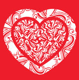 Abstract Valentines Heart Stock Photo