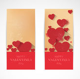 Abstract valentine verrtical banners Royalty Free Stock Photography