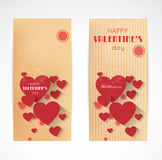Abstract valentine verrtical banners Royalty Free Stock Image