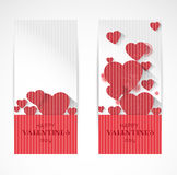 Abstract valentine verrtical banners Stock Image
