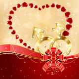 Abstract Valentines background Royalty Free Stock Photography