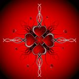 Abstract valentines background, vector Stock Photography