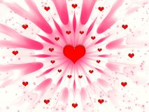 Abstract for Valentines day Royalty Free Stock Photos