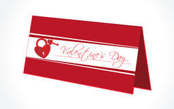 Abstract valentines day background with gift box,  Stock Images