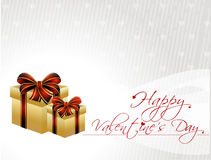 Abstract valentines day background with gift box,  Stock Photography