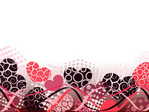 Abstract Valentines Day background with hearts. Place for copy\text Royalty Free Stock Photography