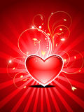 Abstract valentines day card Stock Image