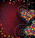 Abstract Valentines Day card Stock Photos