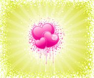 Abstract Valentines Day design Stock Images