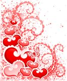 Abstract Valentines Day design with Hearts. Stock Images