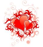 Abstract Valentines Day with h Royalty Free Stock Photo