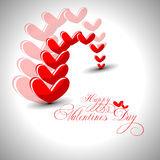 Abstract Valentines day illustration. Royalty Free Stock Photo