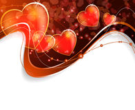 Abstract  Valentines Day postcard  Royalty Free Stock Photo