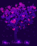 Abstract Valentines day tree Royalty Free Stock Photos