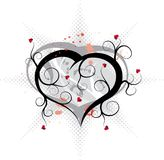 Abstract valentines ornament, vector Royalty Free Stock Images