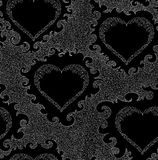 Abstract Valentines vector seamless pattern with ornamental hearts. Endless texture Stock Photo
