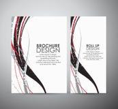 Abstract van de bedrijfs lijnen vectorbrochure ontwerpmalplaatje of broodje omhoog Royalty-vrije Stock Fotografie