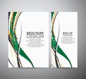Abstract van de bedrijfs lijnen vectorbrochure ontwerpmalplaatje of broodje omhoog Stock Afbeeldingen