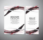Abstract van de bedrijfs lijnen vectorbrochure ontwerpmalplaatje of broodje omhoog Royalty-vrije Stock Afbeeldingen