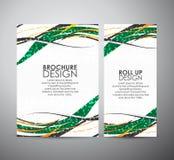 Abstract van de bedrijfs lijnen vectorbrochure ontwerpmalplaatje of broodje omhoog Stock Fotografie
