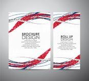 Abstract van de bedrijfs lijnen vectorbrochure ontwerpmalplaatje of broodje omhoog Royalty-vrije Stock Foto's