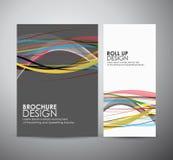 Abstract van de bedrijfs lijnen vectorbrochure ontwerpmalplaatje of broodje omhoog Royalty-vrije Stock Foto