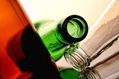 Abstract van de Fles van het Bier Ontwerp Als achtergrond Stock Foto