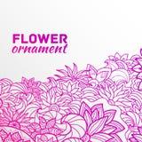 Abstract van de ornamentbloem concept als achtergrond Stock Afbeelding