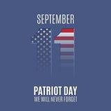 Abstract van de Patriotdag malplaatje als achtergrond Stock Fotografie