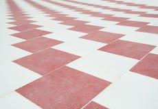 Abstract van het betegelde vloerpatroon behang als achtergrond Stock Foto
