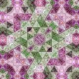 Abstract van het ultraviolette het patrooneffect driehoekenmozaïek lapwerktapijt Stock Foto