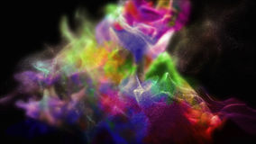 Abstract varicolored dust, 3d illustration. 3d illustration on the abstract theme of beautiful particles Royalty Free Stock Image