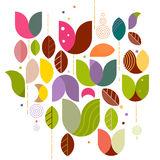 Abstract variety floral graphic background on white Stock Images