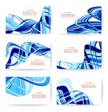 Abstract various business card template or visiting card set. Vector illustration Stock Photos